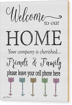 Wood Print featuring the digital art Welcome Home-f by Jean Plout