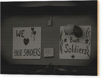 Welcome Home Soldiers Wood Print by Aimee Galicia Torres