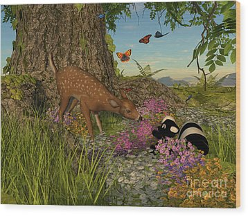 Welcome Spring Wood Print by Methune Hively
