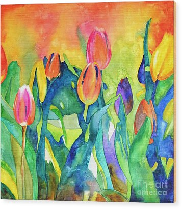 Welcome Spring #1 Wood Print by Betty M M   Wong
