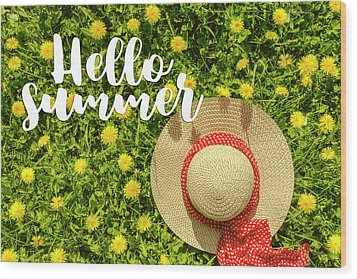 Wood Print featuring the photograph Welcome Summer by Teri Virbickis