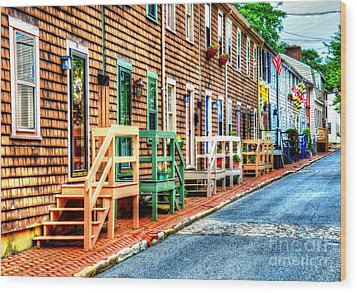 Welcome To Annapolis Wood Print by Debbi Granruth
