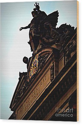 Welcome To Grand Central Wood Print by James Aiken