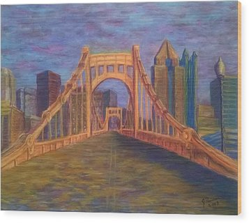 Welcome To Pittsburgh Wood Print by Joann Renner