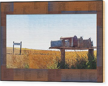 Wood Print featuring the photograph Welcome To Portage Population-6 by Susan Kinney