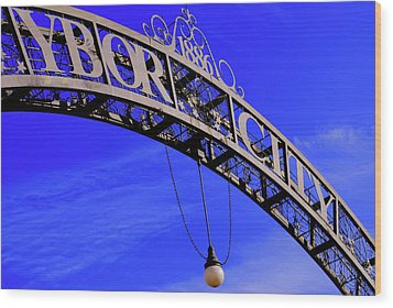 Welcome To Ybor City Wood Print