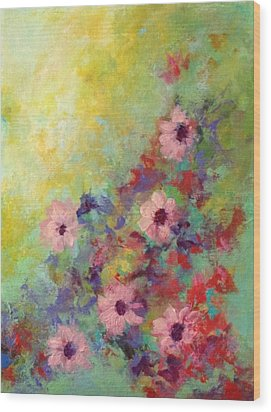 Wood Print featuring the painting Welcoming Spring by Suzzanna Frank