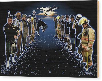 Welcoming The Fallen Wood Print by Rose Borisow