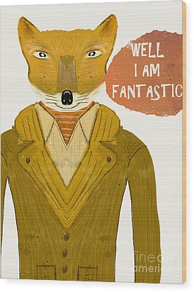 Wood Print featuring the painting Well I Am Fantastic by Bri B
