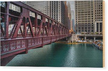 Well Street Bridge, Chicago Wood Print