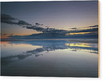 Wood Print featuring the photograph Wells Beach Reflections by Rick Berk