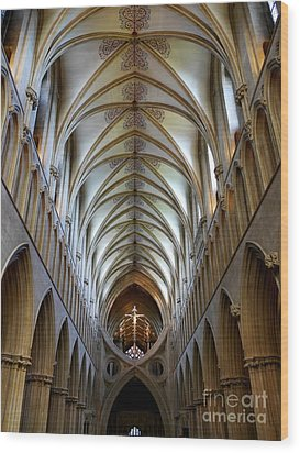 Wells Cathedral Ceiling  Wood Print by Lexa Harpell