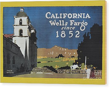 Wells Fargo Banner, 1917 Wood Print by Granger