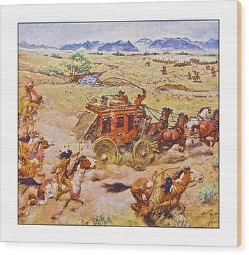 Wells Fargo Express Old Western Wood Print