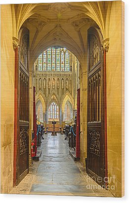 Wellscathedral, The Quire Wood Print by Colin Rayner