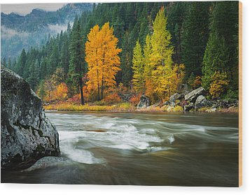 Wood Print featuring the photograph Wenatchee Riverside by Dan Mihai