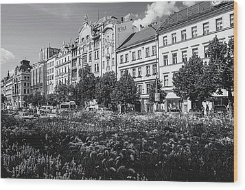 Wood Print featuring the photograph Wenceslas Square In Prague by Jenny Rainbow