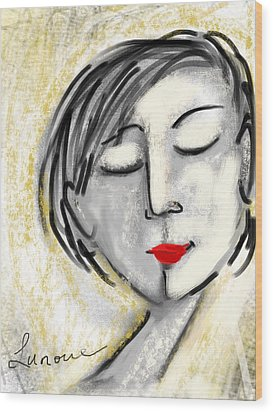 Wood Print featuring the digital art Wendy by Elaine Lanoue