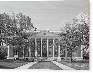 Wesleyan University Olin Library Wood Print by University Icons