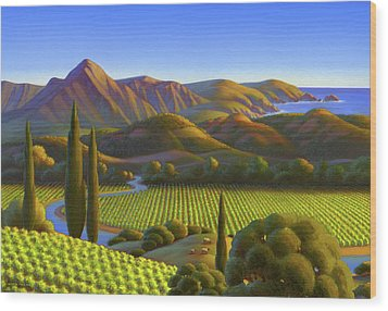 Wood Print featuring the painting West Coast Dreaming by Robin Moline