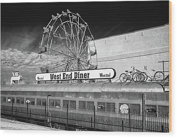 Wood Print featuring the photograph West End Diner by James Barber