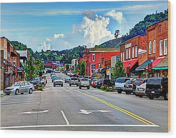 West Jefferson Streetscape Wood Print by Dale R Carlson
