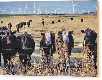 Wood Print featuring the digital art West Kansas Economics by JC Findley