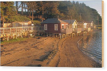 West Marin Nick's Cove Cottages Wood Print