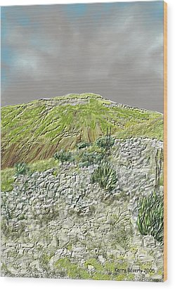 Wood Print featuring the digital art West Of The Hill Country by Kerry Beverly