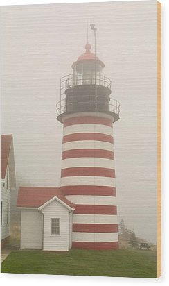 West Quody Head Lighthouse Wood Print by Brent L Ander