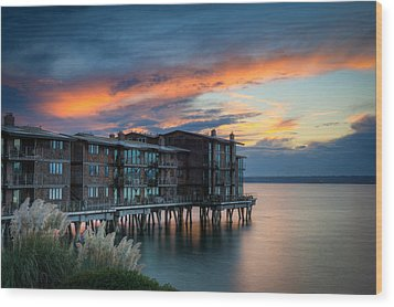 Wood Print featuring the photograph West Seattle Living by Dan Mihai
