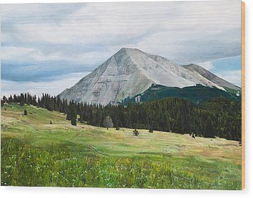 West Spanish Peak In Summer Wood Print