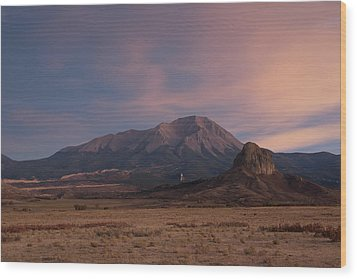 West Spanish Peak Sunset Wood Print by Aaron Spong