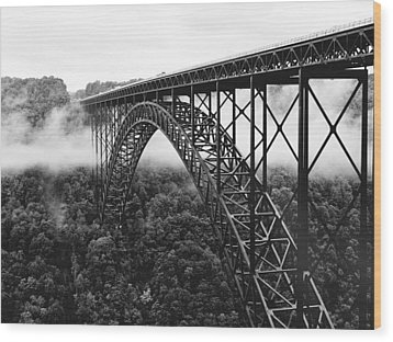 West Virginia - New River Gorge Bridge Wood Print by Brendan Reals