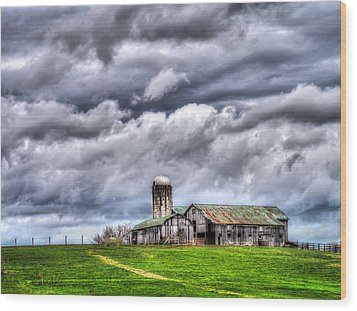 Wood Print featuring the photograph West Virginia Barn by Steve Zimic