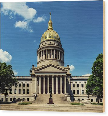 West Virginia Capitol - Charleston Wood Print by L O C