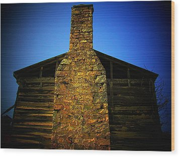 West Virginia Chimney Wood Print by Michael L Kimble