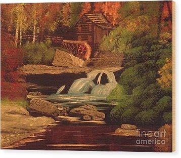 West Virginia Grist Mill Wood Print by Tim Blankenship