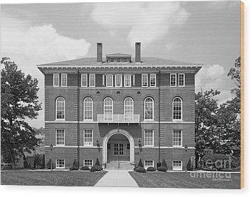 West Viriginia University Chitwood Hall Wood Print by University Icons
