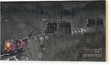 Westbound Grain II Wood Print by Brad Allen Fine Art