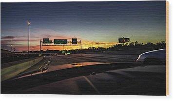 Wood Print featuring the photograph Westbound by Randy Scherkenbach