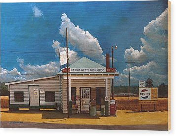 Westbrook Country Store Wood Print by Doug Strickland