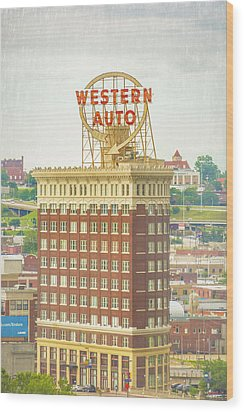 Western Auto Wood Print by Pamela Williams