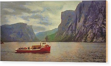 Western Brook Pond Wood Print by Jeff Kolker