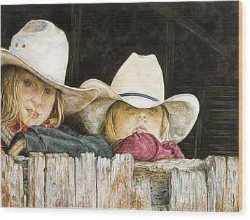 Western Daydreams  Wood Print