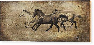 Western Flair Wood Print by Steve McKinzie