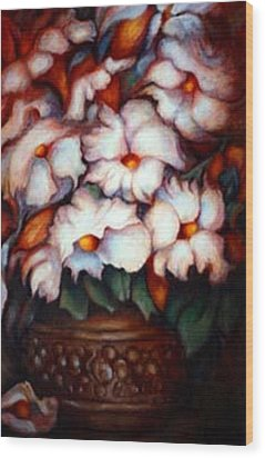 Western Flowers Wood Print by Jordana Sands