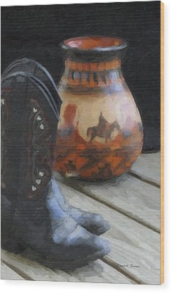 Wood Print featuring the photograph Western Still Life by Kenny Francis