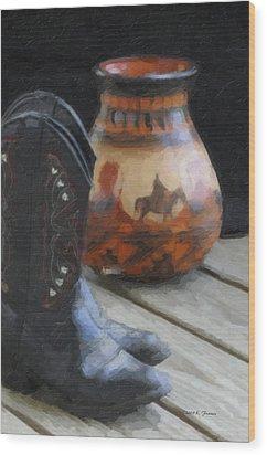 Western Still Life Wood Print by Kenny Francis