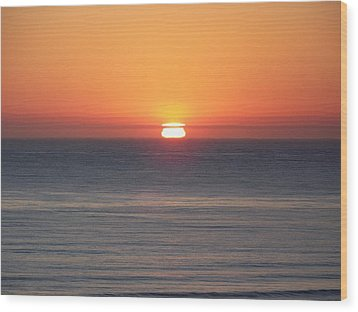 Western Sunset Wood Print